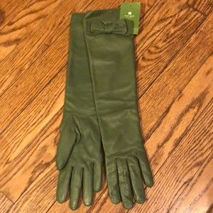 Elegant KATE SPADE, 6.5, forest leather gloves new